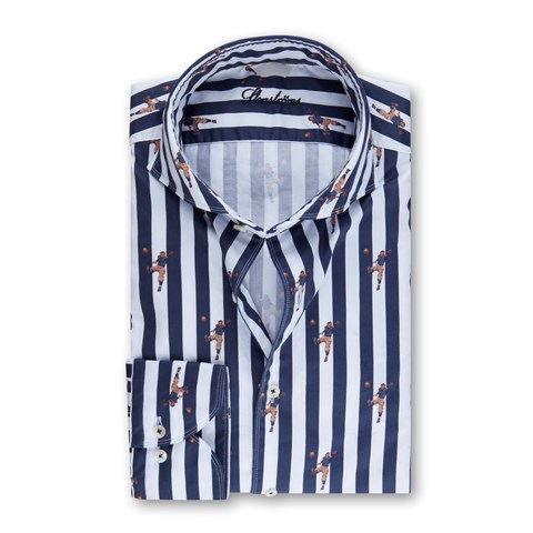 Striped Rugby Slimline Shirt