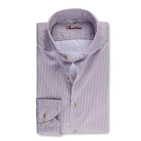 Slimline Casual Shirt Geometric Pattern