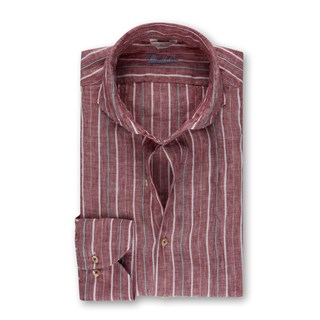 Red Striped Slimline Shirt