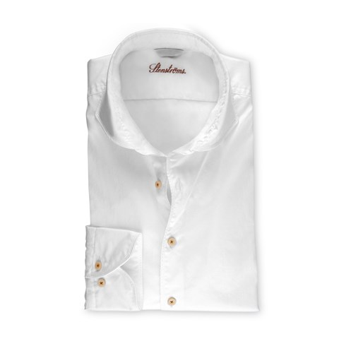 White Casual Slimline Shirt, Extra Long Sleeves