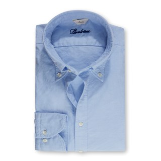 Slimline Casual Oxford Shirt Light Blue