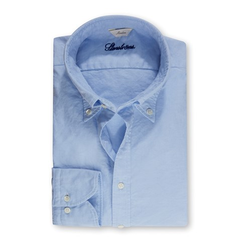 Casual Slimline Oxford Shirt Light Blue