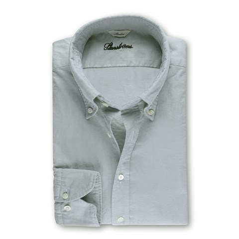 Casual Slimline Oxford Shirt Green