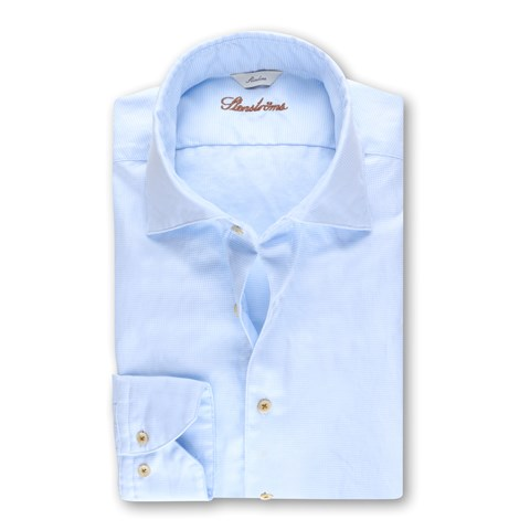 Slimline Casual Shirt Houndstooth Blue