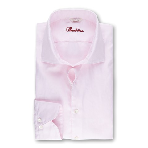Light Pink Hounds Tooth Casual Slimline Shirt