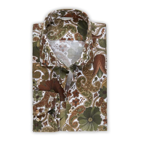 Paisley Patterned Slimline Shirt