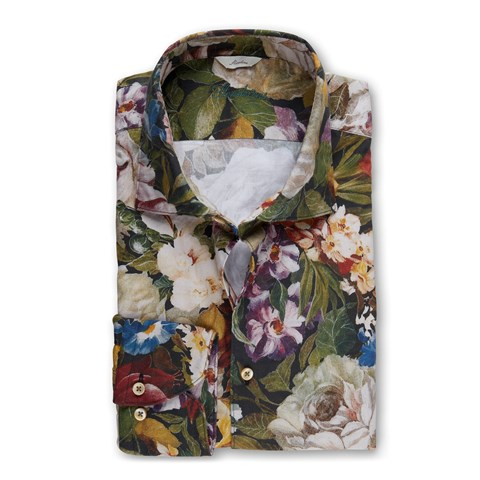 Flower Patterned Slimline Shirt