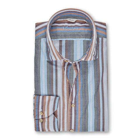 Multicolor Striped Casual Slimline Shirt