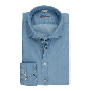Slimline Shirt In Washed Denim