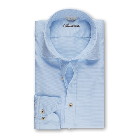 Blue/White Casual Slimline Shirt