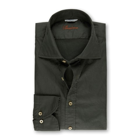 Casual Slimline Shirt Forest Green