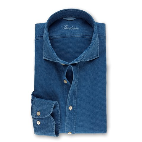Textured Denim Slimline Shirt