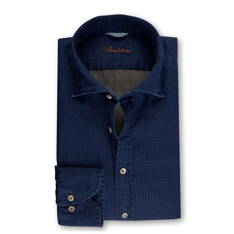 Casual Patterned Slimline Shirt