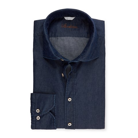 Slimline Shirt In Denim