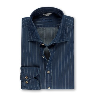 Striped Denim Slimline Shirt
