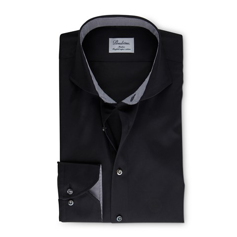 Black Slimline Shirt With Details