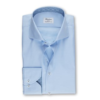 Blue Micro Patterned Slimline Shirt