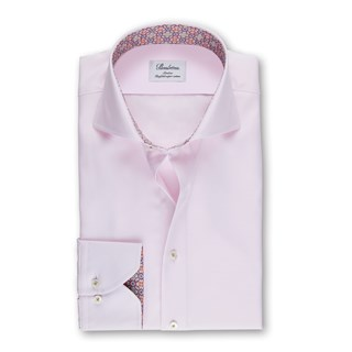 Light Pink Micro Patterned Slimline Shirt