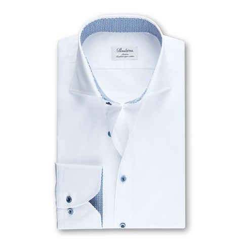Slimline Shirt With Contrast White