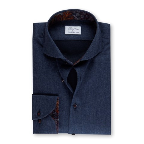 Flannel Slimline Shirt, Blue