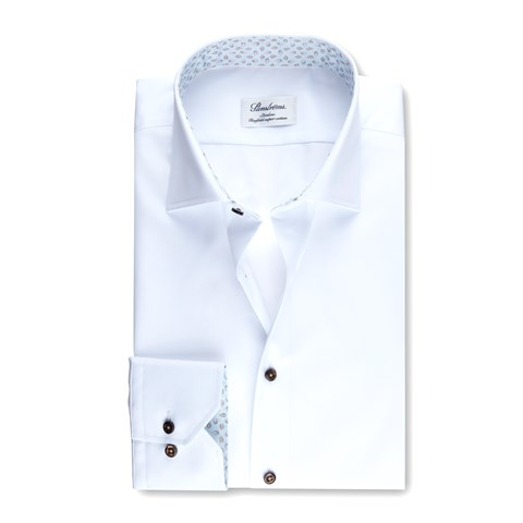 Slimline Shirt Patterned Contrast