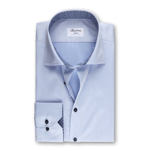 Slimline Shirt Blue With Contrast, XL-sleeves