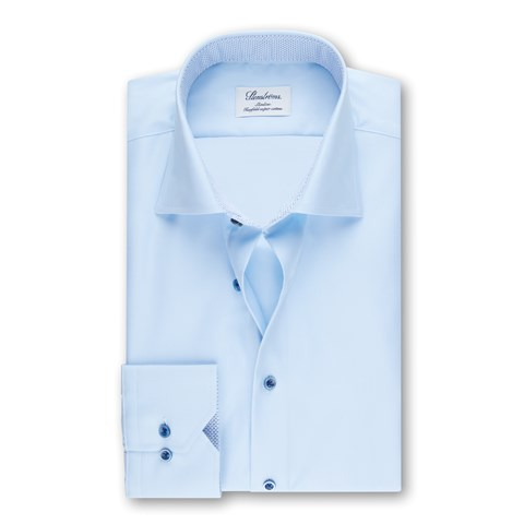 Light Blue Slimline Shirt W Blue Details