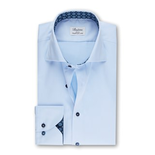 Light Blue Slimline Shirt Contrast