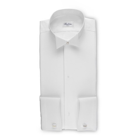 White Tie Classic Shirt With Wing Collar