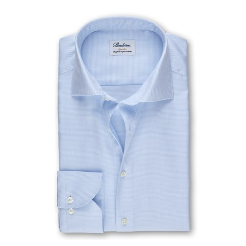 Light Blue Textured Superslim Shirt