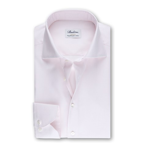 Light Pink Checked Superslim Shirt