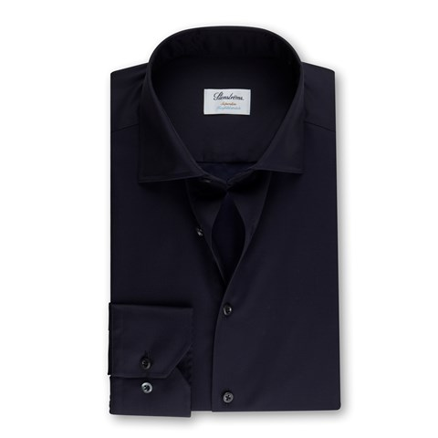 Navy Superslim Shirt, Stretch