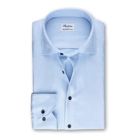 Light Blue Micro Patterned Superslim Shirt