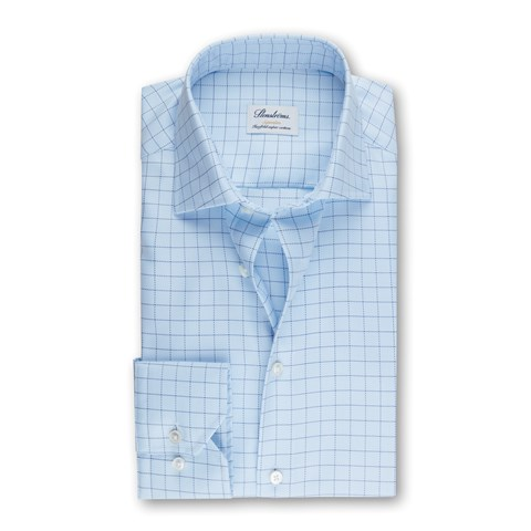 Light Blue Checked Superslim Shirt