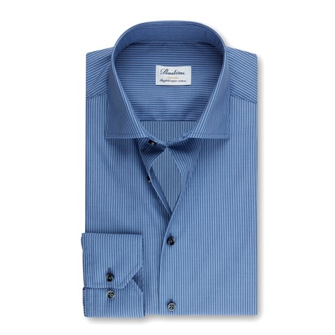 Blue Striped Superslim Shirt