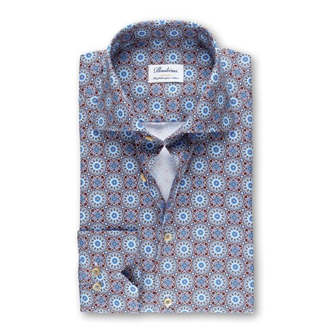 Blue Kaleidoscope Superslim Shirt