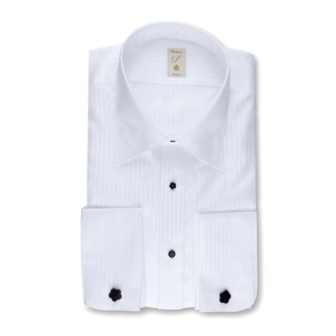 White Striped Slimline Evening Shirt