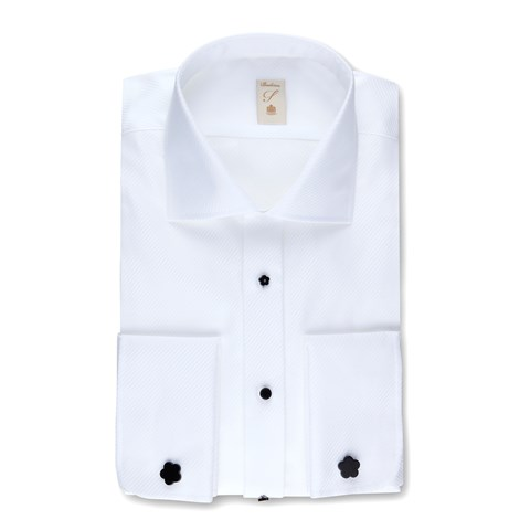 White Slimline Evening Shirt