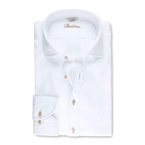 White Slimline Denim Shirt
