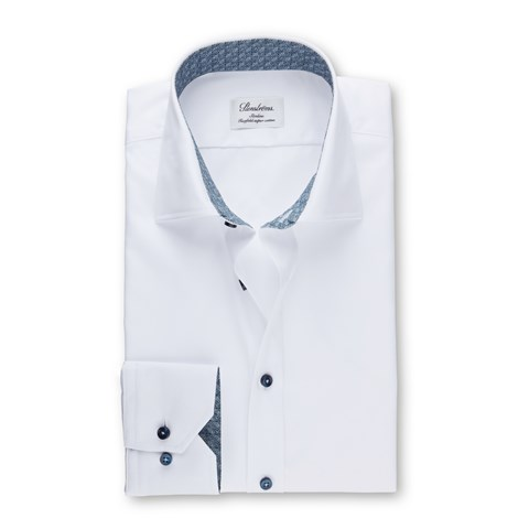 Slimline Shirt With Blue Contrast