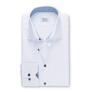 Fitted Body Shirt with Blue Contrast