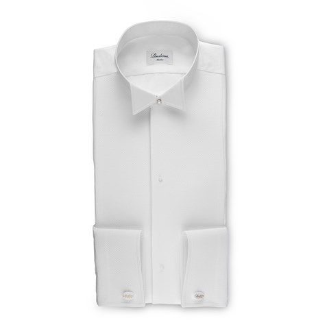 White Tie Slimline Shirt With Wing Collar