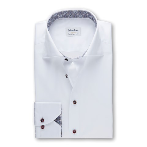 White Superslim Shirt With Contrast