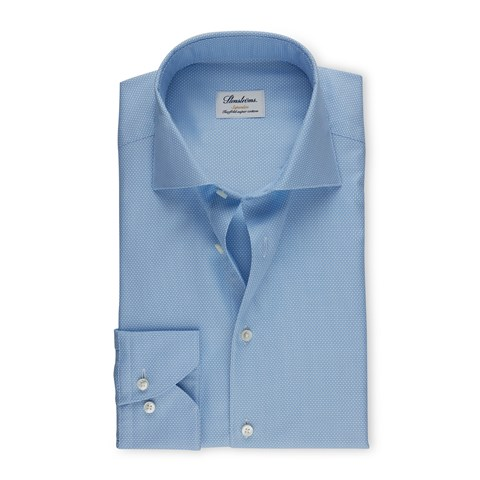 Blue Textured Superslim Shirt