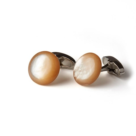 Champagne Mother Of Pearl Cuff Links