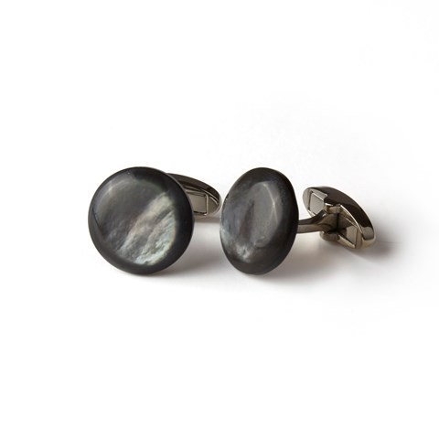 Grey Mother Of Pearl Cuff Links