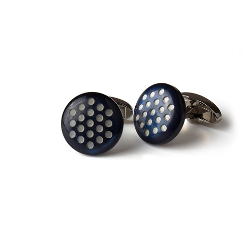 Blue Cuff Links With Dots