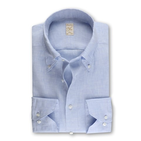 1899 Slim Shirt - Linen, Light Blue