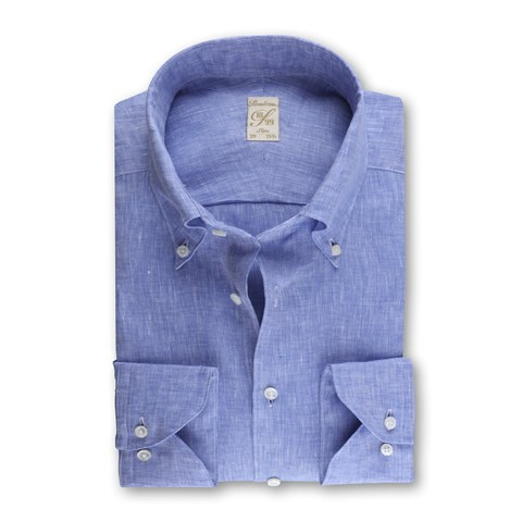 1899 Slim Shirt - Linen, Blue