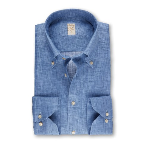 Light Blue Linen 1899 Slim Shirt
